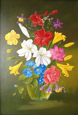 Painting -  Bouquet 1 by Zdzislaw Dudek