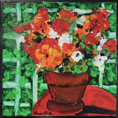 Painting - Bouquet A Day Floral Painting Original 59.00 By Elaine Elliott by Elaine Elliott