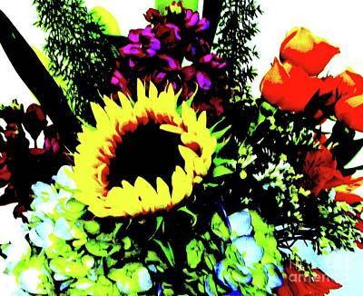 Bouquet Abstract Art Print by Marsha Heiken
