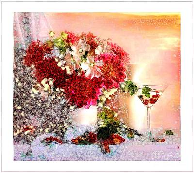 Martini Royalty-Free and Rights-Managed Images - Bouquet and Matini Framed In Asgelmint by Catherine Lott