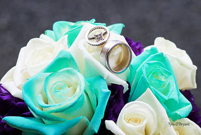 Photograph - Bouquet And Wedding Rings by Tyra OBryant