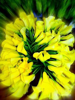 Digital Art - Bouquet Blur by Ed Weidman