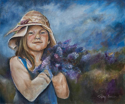 Eyes Of A Child Painting - Bouquet De Lilacs by Patsy Cormier