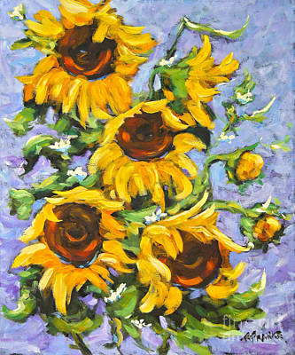 Quebec Cities Painting - Bouquet Del Sol Sunflowers by Richard T Pranke