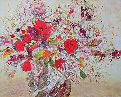 Painting - Paper Roses by Joanne Smoley
