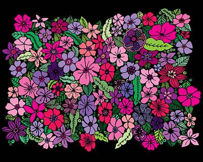 Patterns Drawings Drawing - Bouquet by Elizabeth Davis
