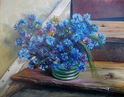 Painting - Bouquet For Mom by Nina Mitkova