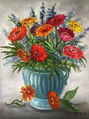 Painting - Bouquet For My Mother On Her Birthday by Randol Burns