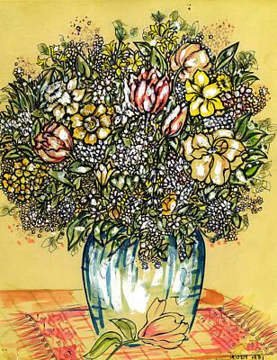 Bouquet For You Art Print by Judith Herbert