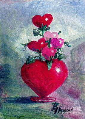 Painting - Bouquet From The Heart Aceo by Brenda Thour