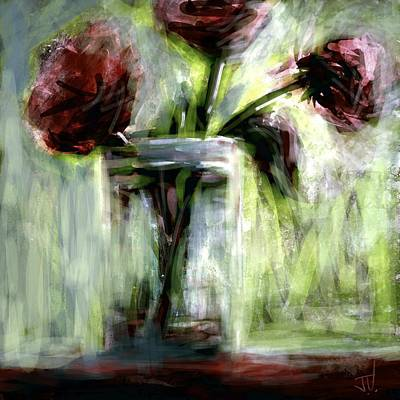 Digital Art - Bouquet In A Jar by Jim Vance