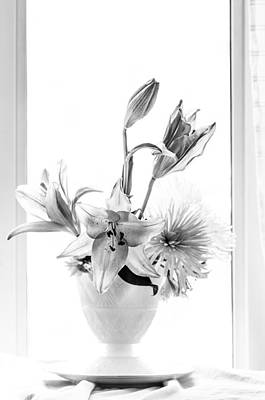 Bouquet In Black And White Art Print