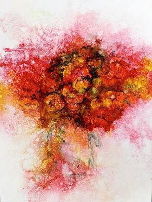 Painting - Bouquet In Red by Carolyn Rosenberger