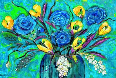 Digital Art - Bouquet In The Spirit Of Vincent Van Gogh By Lisa Kaiser by Lisa Kaiser