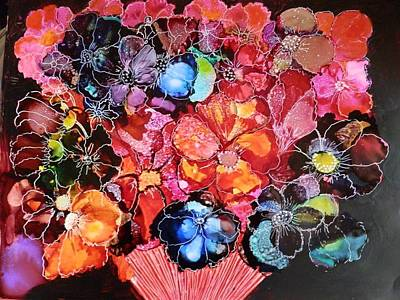 Painting - Bouquet by Jann Elwood