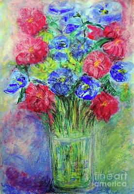 Art Print featuring the painting Bouquet by Jasna Dragun
