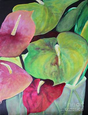 Painting - Bouquet Of Anthuriums by Terri Thompson