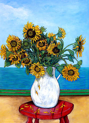 Sunflower Painting - Bouquet Of Beauty by Tom Roderick