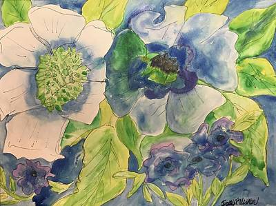 Painting - Bouquet Of Blue  by Dottie Phelps Visker