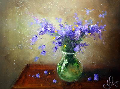 Painting - Bouquet Of Bluebells by Igor Medvedev