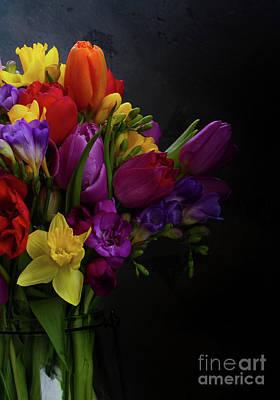 Flowers Dutch Style Art Print by Anastasy Yarmolovich