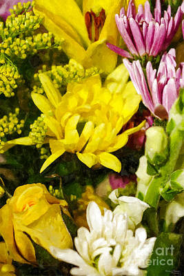 Photograph - Bouquet Of Cheer Painterly by Jennifer White