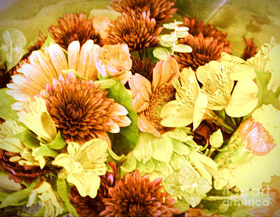 Bouquet Of Fall Colored Flowers Original