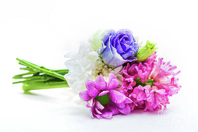 Photograph - Bouquet Of Fresh Spring Flowers. by Michal Bednarek