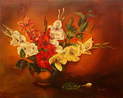 Painting - Bouquet Of Glads by B J Blair
