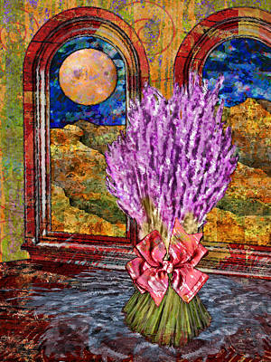 Interior Still Life Digital Art - Bouquet Of Lavender by Mary Ogle