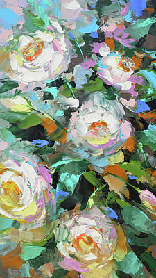 Painting - Bouquet Of Peonies  by Dmitry Spiros