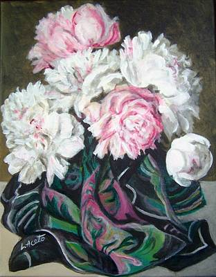Painting - Bouquet Of Peonies by Laura Aceto