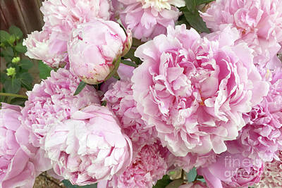 Photograph - Bouquet Of Pink Peonies - Garden Peonies - Pink Shabby Chic Peony Prints Home Decor by Kathy Fornal