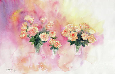 Painting - Bouquet Of Roses Abstract Watercolor by Melly Terpening