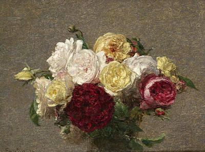 Painting - Bouquet Of Roses by Henri Fantin-Latour