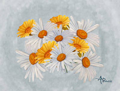Daisy Mixed Media - Bouquet Of Wild Flowers by Angeles M Pomata