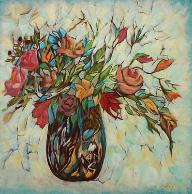 Painting - Bouquet With Turquoise by Joanne Smoley