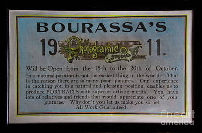 Photograph - Bourassa's Photographic Studio by Al Bourassa