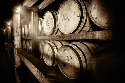 Kentucky Photograph - Bourbon Barrels by Karen Varnas