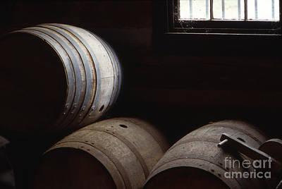 Bourbon Barrels Art Print by Lowell Anderson