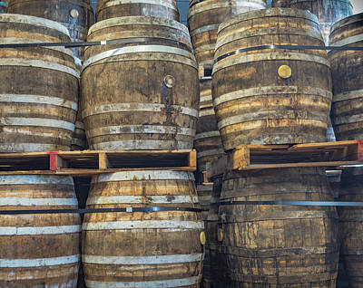 Photograph - Bourbon Barrels by Robin Zygelman