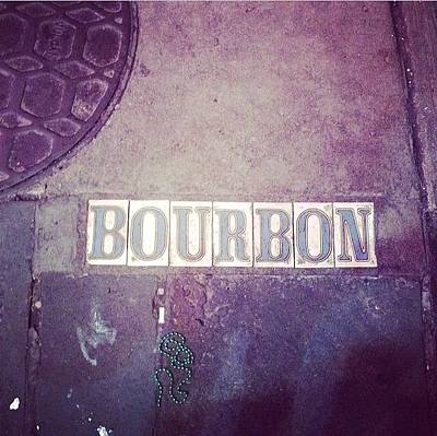 New Orleans Wall Art - Photograph - Bourbon by Diana Rosales