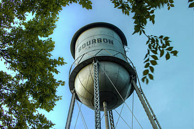 Photograph - Bourbon Missouri Usa Vintage Water Tower by Gregory Ballos