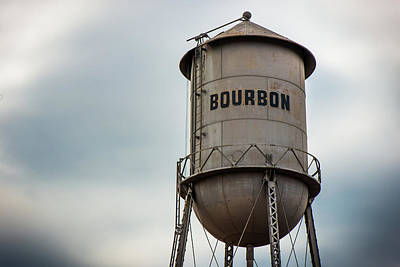 Photograph - Bourbon Missouri Whiskey Vintage Multi-column Water Tower by Gregory Ballos