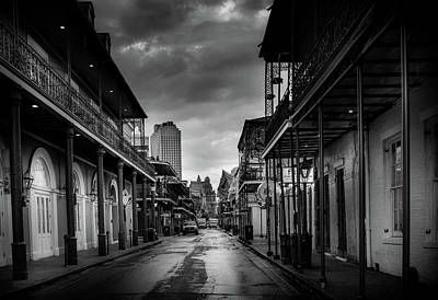 Photograph - Bourbon Rain In Black And White by Greg Mimbs