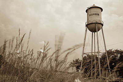 Photograph - Bourbon Sepia Tower And Wheat Grass by Gregory Ballos
