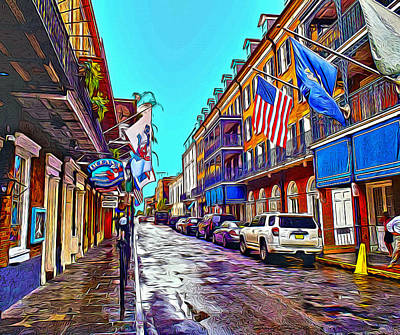 Water Droplets Sharon Johnstone - Bourbon Street by Anthony C Chen