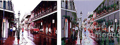 Photograph - Bourbon Street - Before And After Modification by Merton Allen