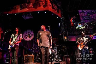 Nashville Tennessee Photograph - Bourbon Street Blues Band 5 by David Bearden