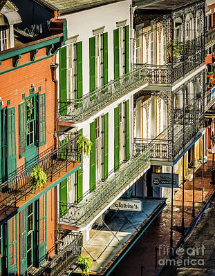 Photograph - Bourbon Street Buildings Morning - New Orleans by Kathleen K Parker